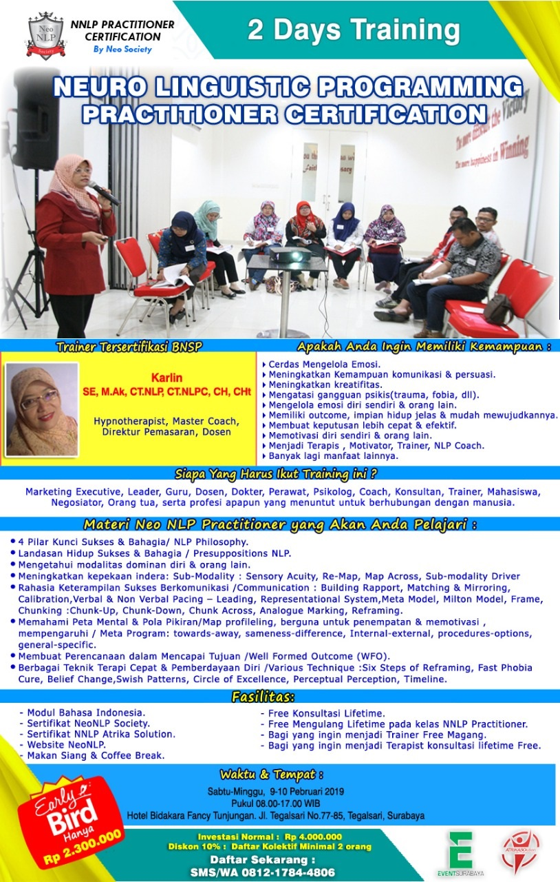 NEURO LINGUISTIC PROGRAMMING PRACTITIONER CERTIFICATION By ...